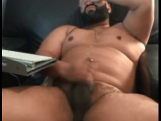 Big Daddy Bear Wanking His Fat Dick
