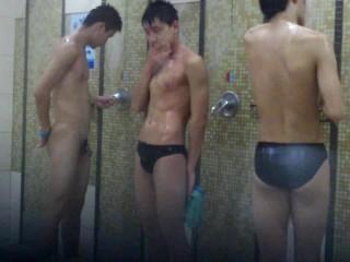 Chinese boys shower
