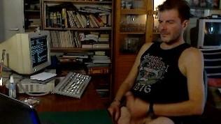 Cute amateur masturbates in his office room