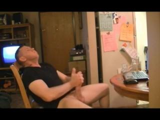 Dad Beats His Dick Twice