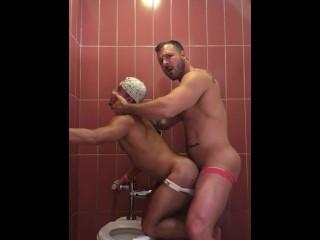 fucking latin boy in bathroom at beach club: www.onlyfans.com/austinwolfff