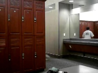 Horny daddy wanking in the locker room