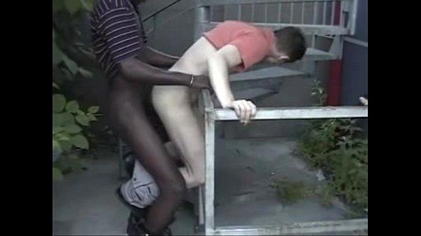 Interracial Bareback Outdoor