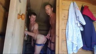 Russian guys Zhenya and Sasha are filming homemade gay porn in the bath