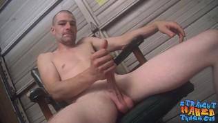 Skinny amateur works hard on his sweet straight cock