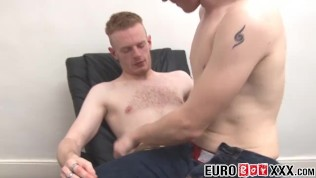 Twink amateur receives his friends dick while being filmed