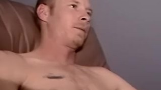 White amateur working really hard on his little dick
