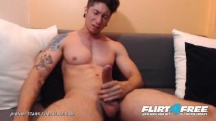 Flirt4Free Model Jhonny Stark – Spanish Speaking Stud Jerks His Big Cock on Cam JOI