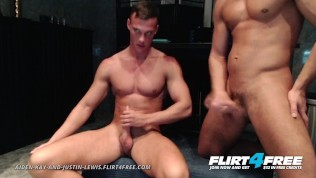Flirt4Free – Aiden and Justin – Athletic Studs Hard Jerk Their Big Dicks