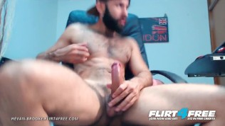 Flirt4Free – Hevan Brooke – Hairy Latino Fucks and Cums in His Pocket Pussy
