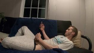 Watching Pornhub on my iPhone in pyjamas