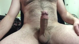 i grew my bush out!… cumming with no hands, playing with the cum